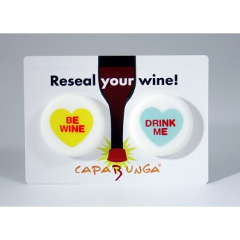 CapaBunga Reusable Wine Caps - Be Wine/Drink Me